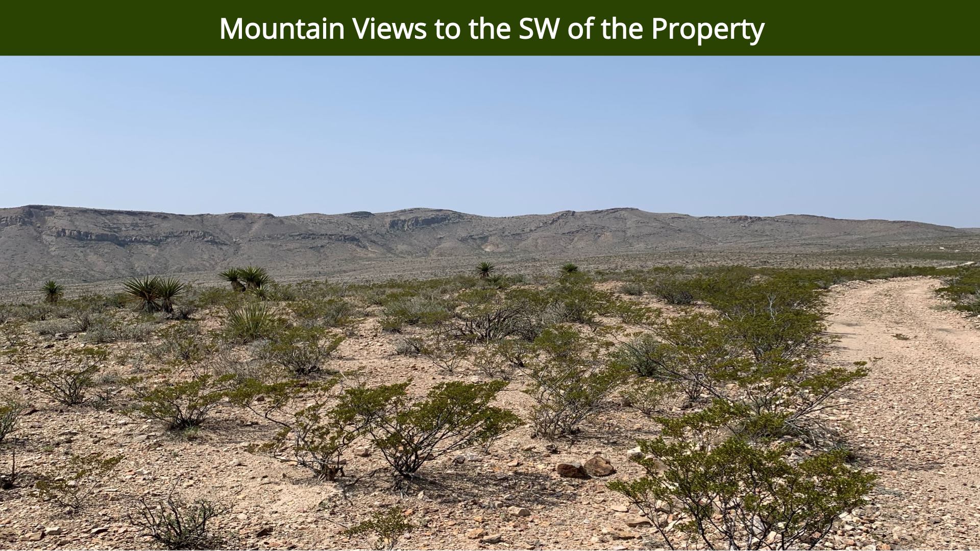 Mountain Views to the SW of the Property