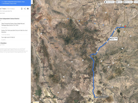 Driving Directions to Fort Stockton, Tex