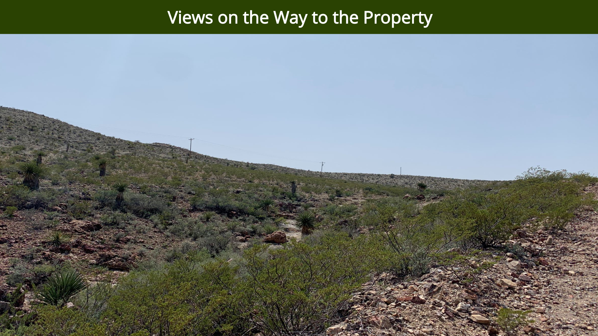 Views on the Way to the Property