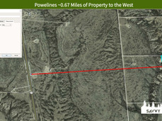 Powelines ~0.67 Miles of Property to the