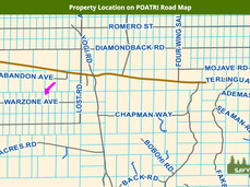 Property Location on POATRI Road Map.jpe