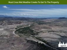 Must Cross Wet Weather Creeks To Get To