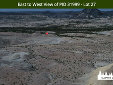 East to West View of PID 31999 - Lot 27.