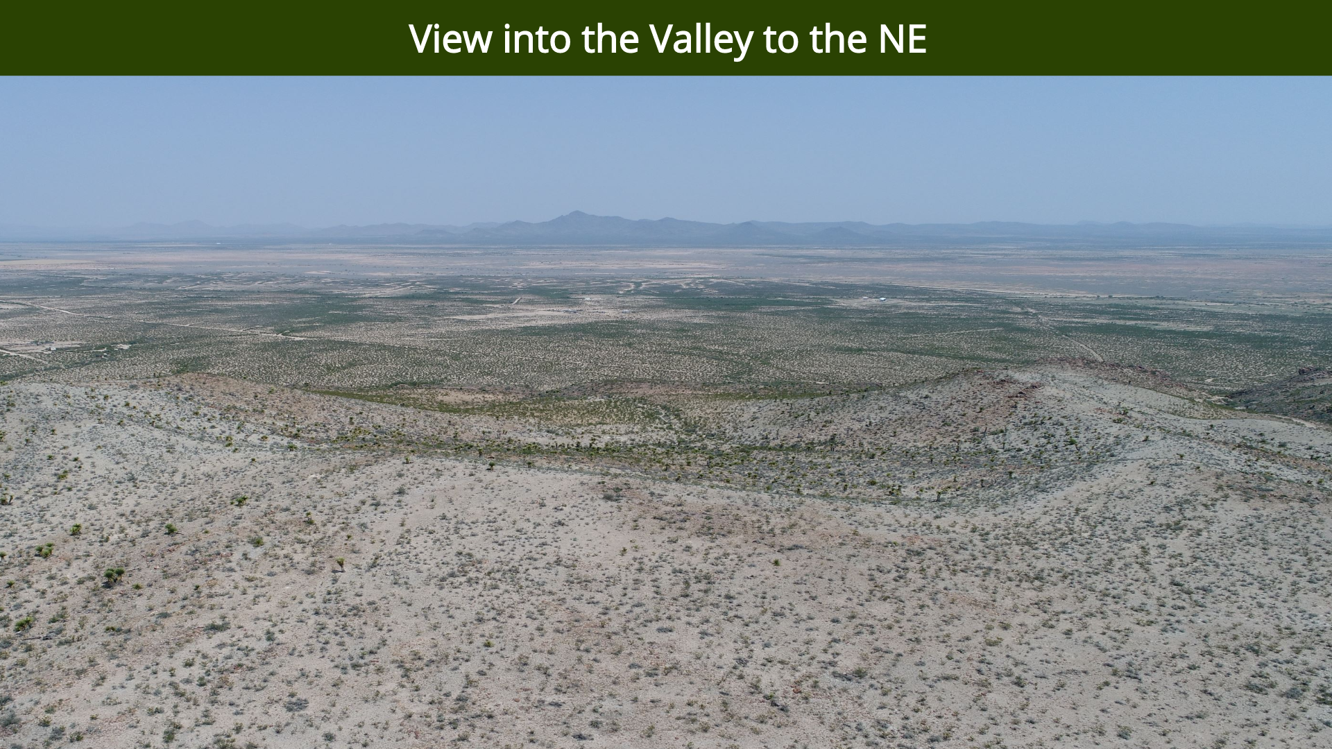 View into the Valley to the NE