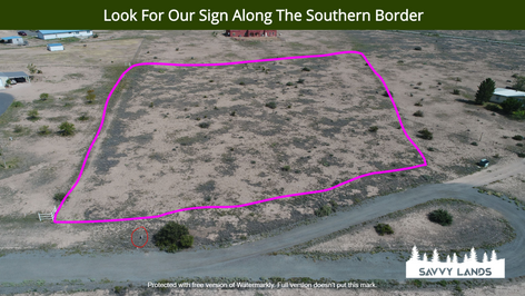 Look For Our Sign Along The Southern Bor