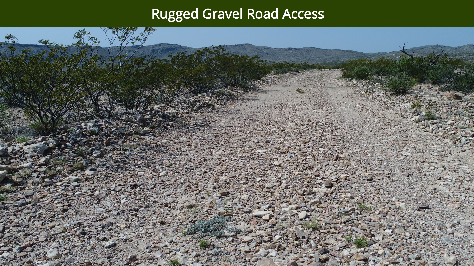 Rugged Gravel Road Access