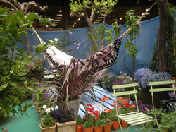 Jardin montado en exposicion