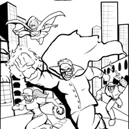 Wurstman Coloring Page