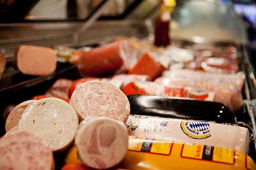 Meats in the deli case