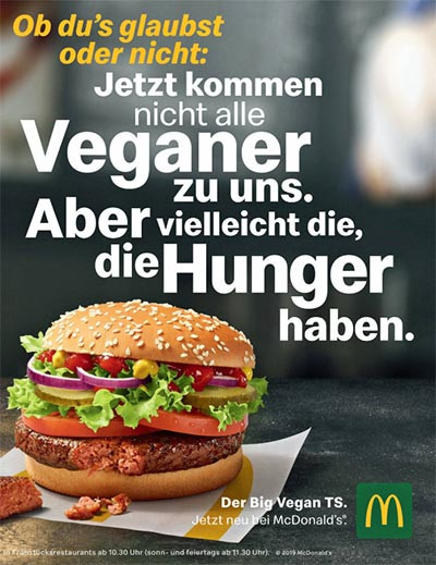 McDonald's vegan burger in Germany