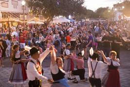Oktoberfest Dancing Crowd