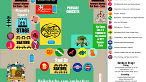SPRINGFEST MAP   and entertainment schedule