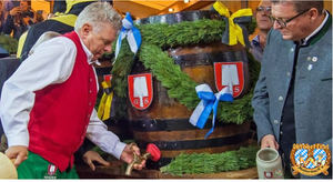 Ceremonial kep tapping at Oktoberfest