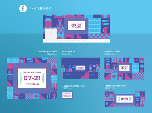 Facebook Cover Po Template | Housing Design Webinar Design Templates Kit