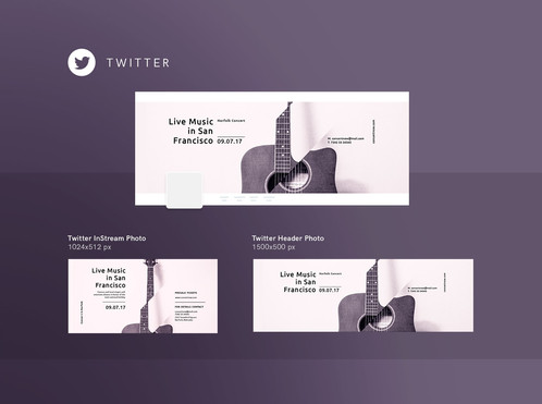 Live music concert design templates kit get an instant access to huge collection of posters flyers banners documents business cards and social media products totally 74 great templates reheart Images