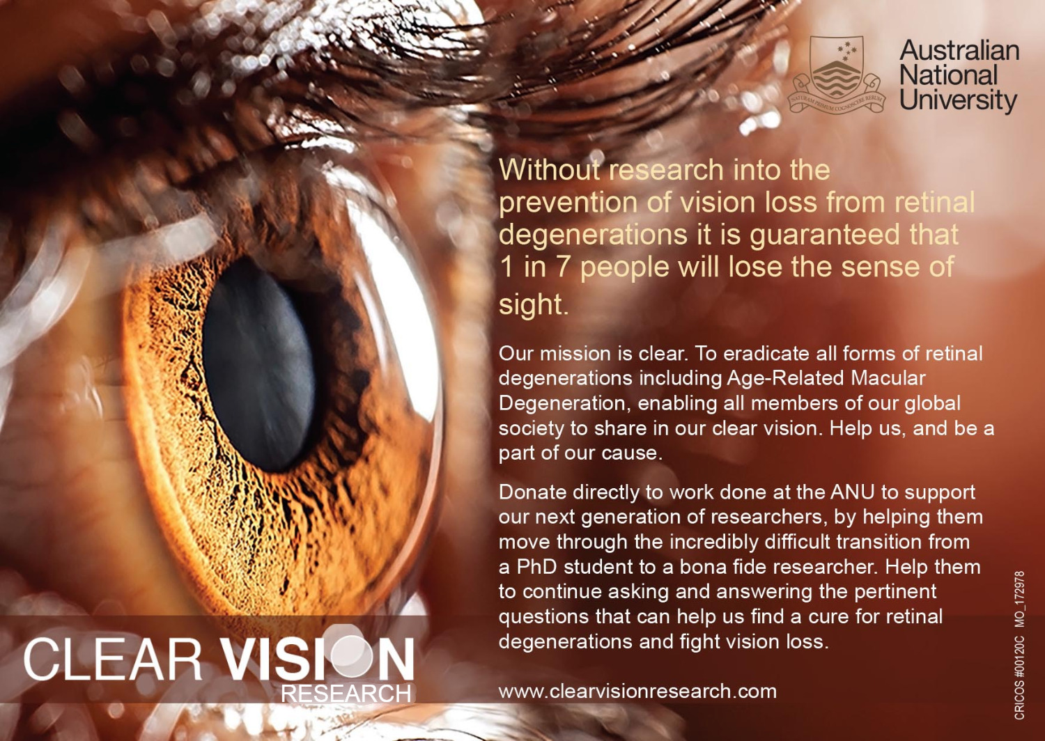 Philanthropic Gift to the ANU and Clear Vision Research – K T  Tan