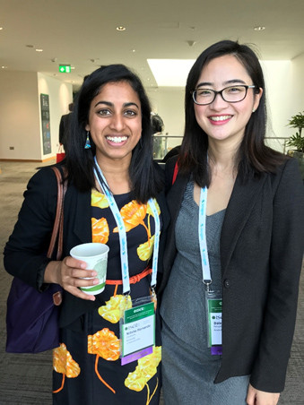 Meeting fellow ISER Young Investigator Daisy Y. Shu, a PhD student at the University of Sydney