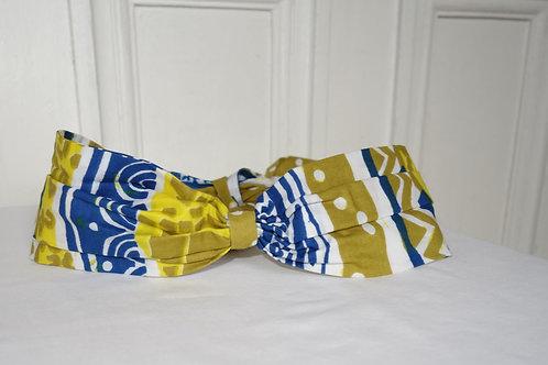 Headband en tissu Wax