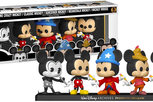 MICKEY MOUSE 50TH ANNIVERSARY 5 PACK