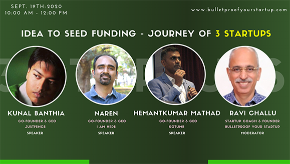 Idea to seed funding - journey of 3 startups | BYS Webinar