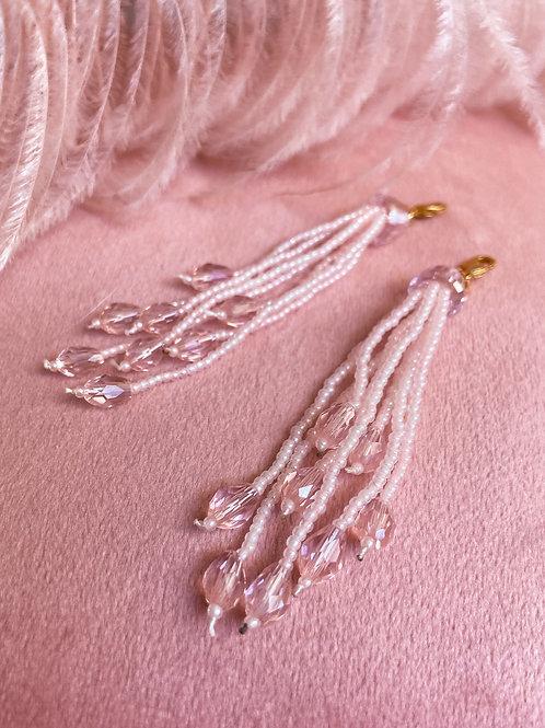 Light Pink Waterfall Beaded Tassels