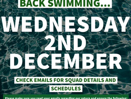 Wednesday 2nd Dec - Back Training -  All Squads