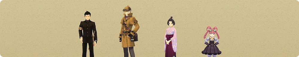 Great Ace Attorney Nintendo Switch Review Credit characters