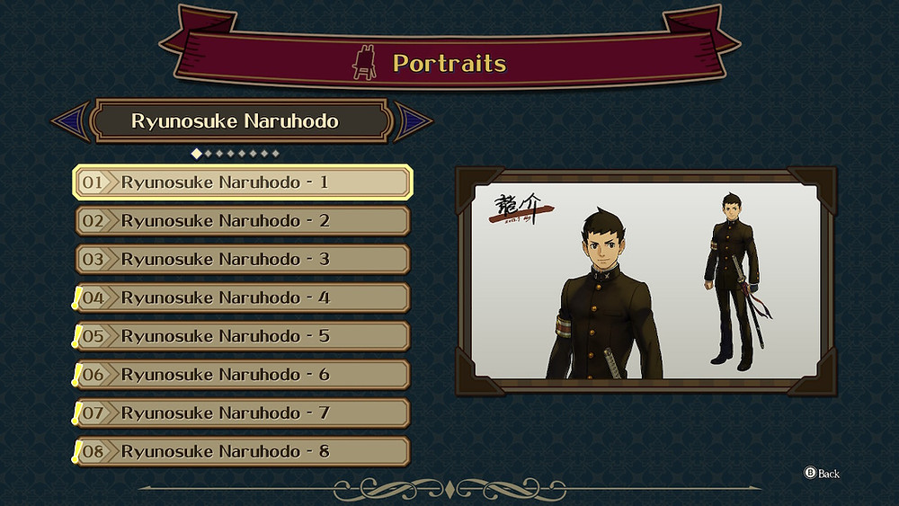 Great Ace Attorney Nintendo Switch Review Extra bonus Gallery