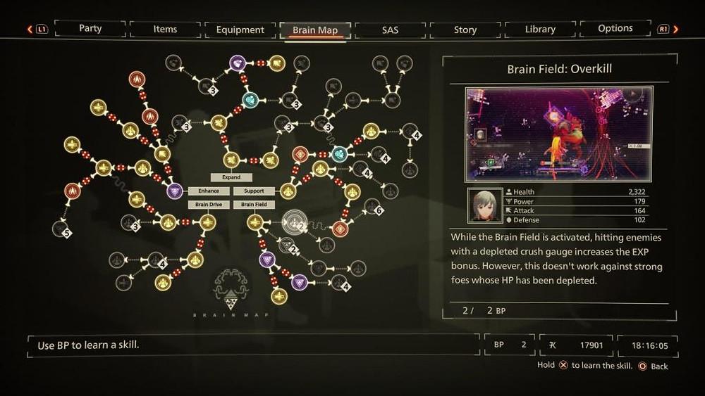 Scarlet Nexus Anime PS5 PlayStation 5 Visuals Combat Yuito Kasane Brain Map