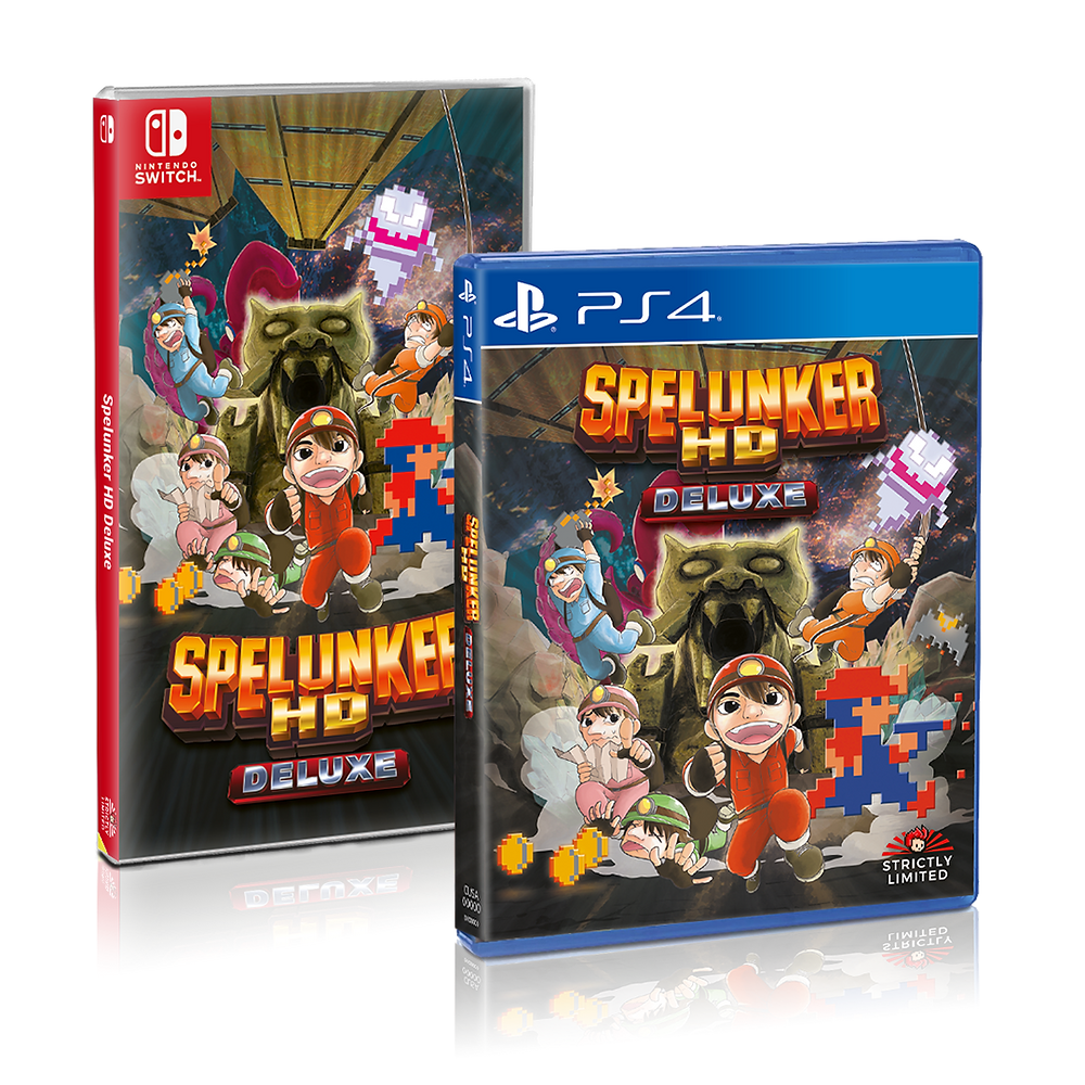 Spelunker HD Deluxe Nintendo Switch PlayStation 4 Strictly Limited