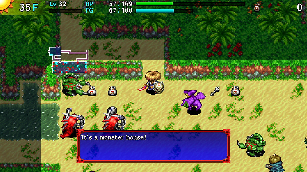 Shiren the Wanderer: The Tower of Fortune and the Dice of Fate (Nintendo Switch, 2020)