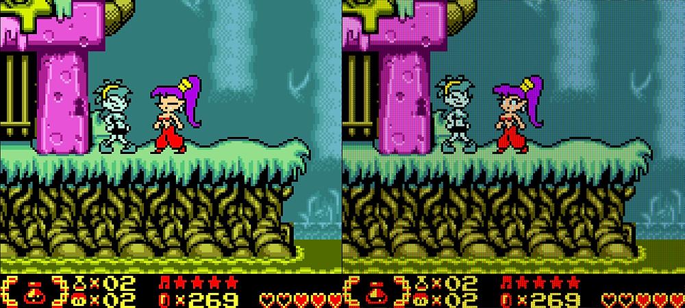 Shantae Nintendo Switch Gameboy Colour Pixel Visuals Sharp LCD Filter