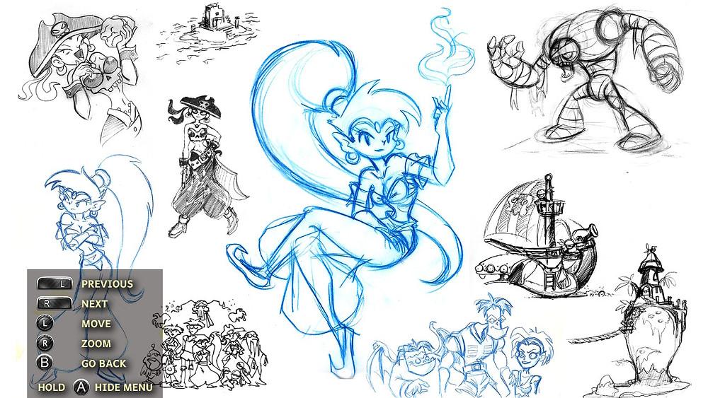 Shantae Nintendo Switch Gameboy Colour Art Gallery