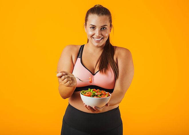 Canva - Image of Big Sportswoman in Trac