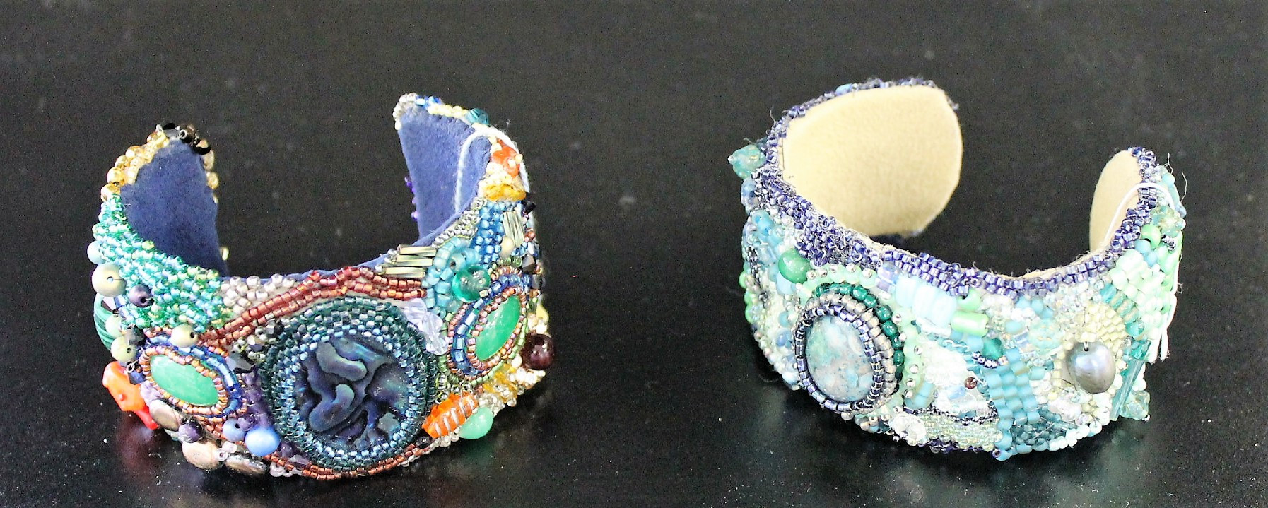 One-of-a-Kind Hand-Beaded Cuffs
