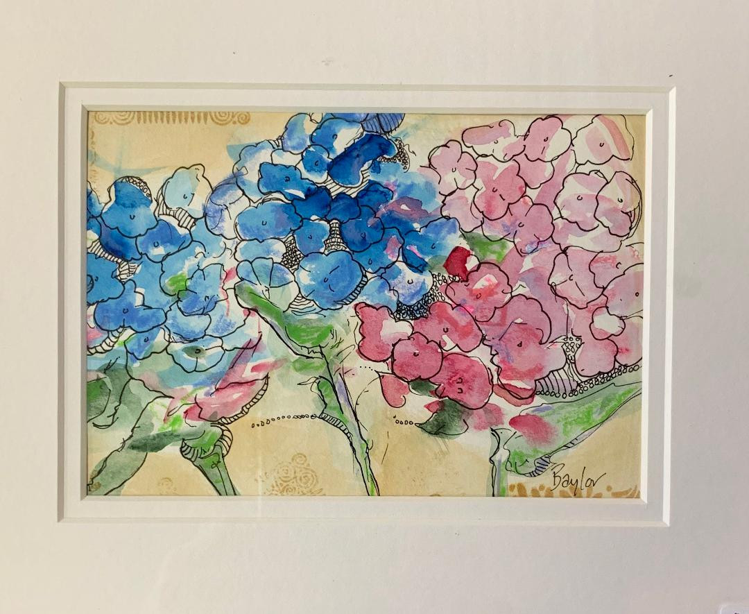 Pink & Blue Hydrangeas