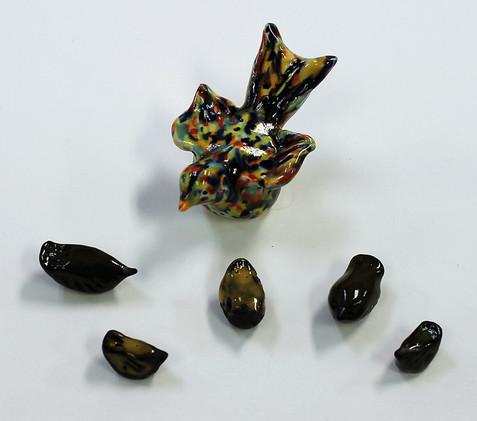 Hand-Made Ceramic Birds