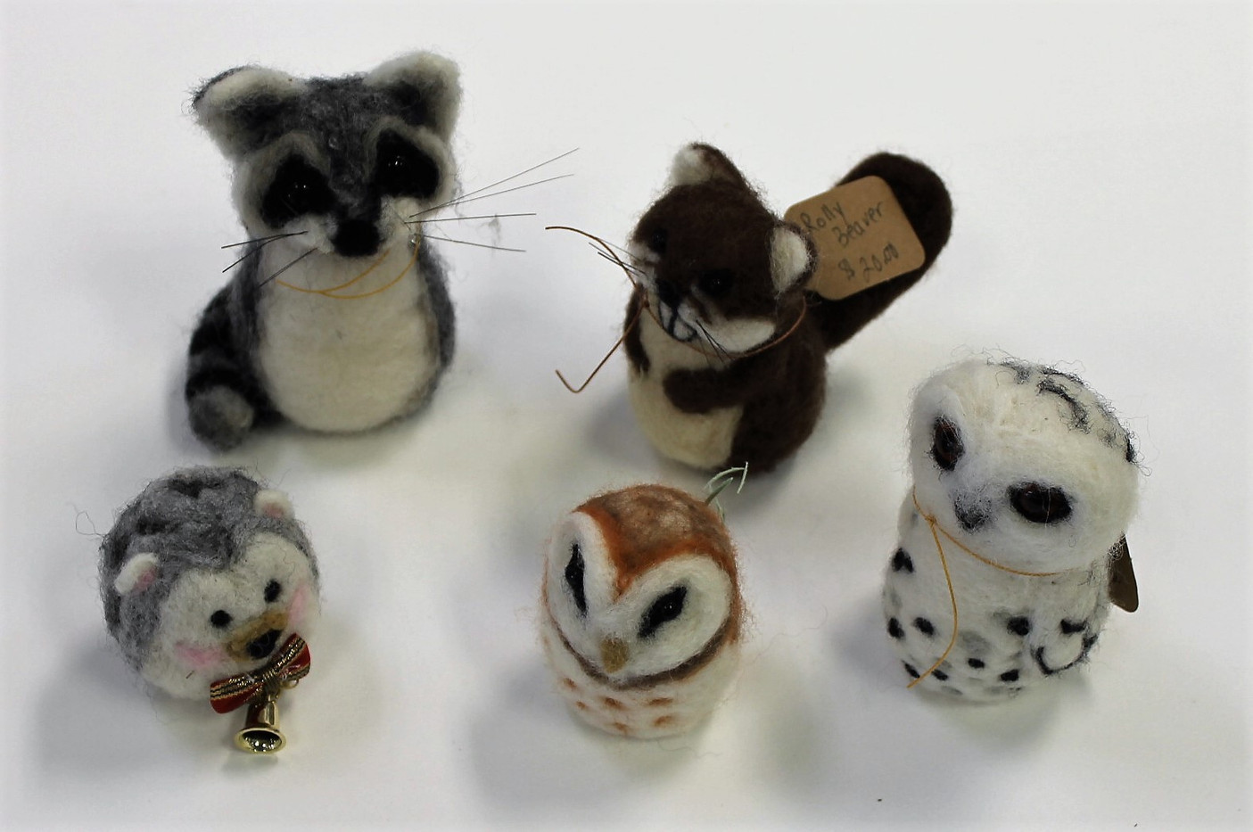 Needle-Felted Forest Friends (Raccoon, B
