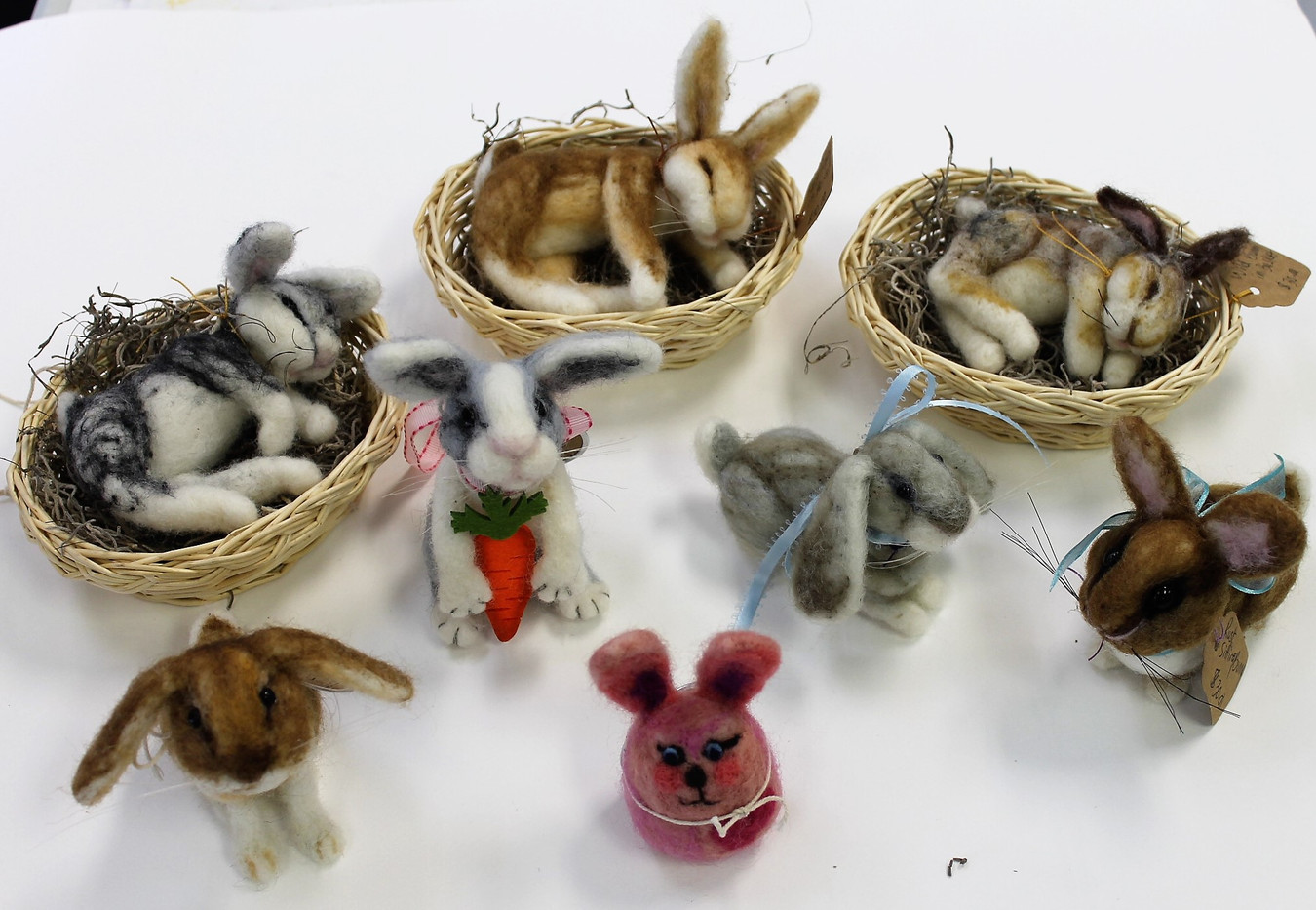 Bunches of Needle-Felted Bunnies