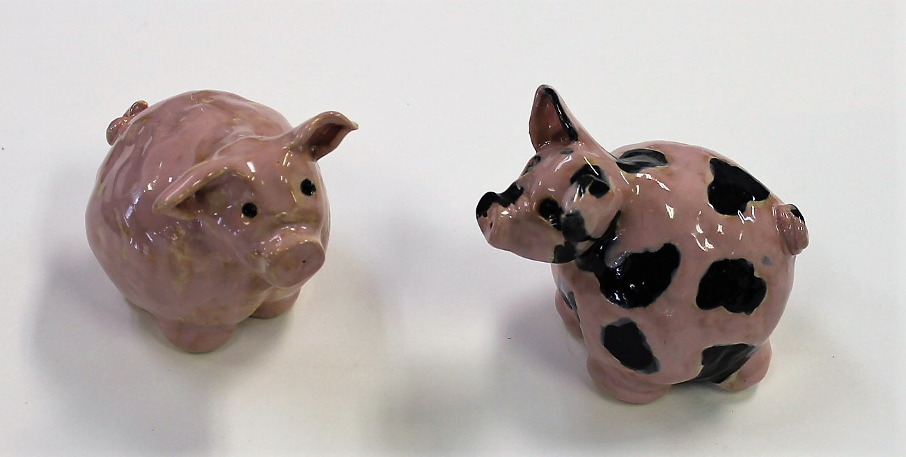 Hand-Made Ceramic Pigs