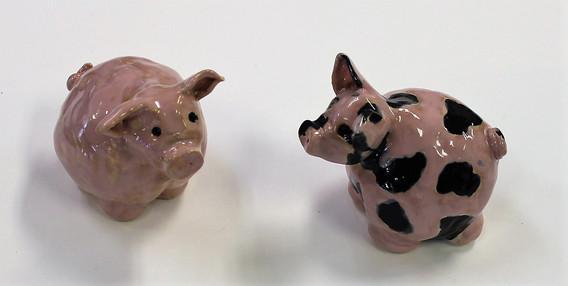 Hand-Made Ceramic Pigs