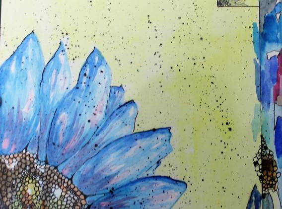 Deconstructed Blue Flower
