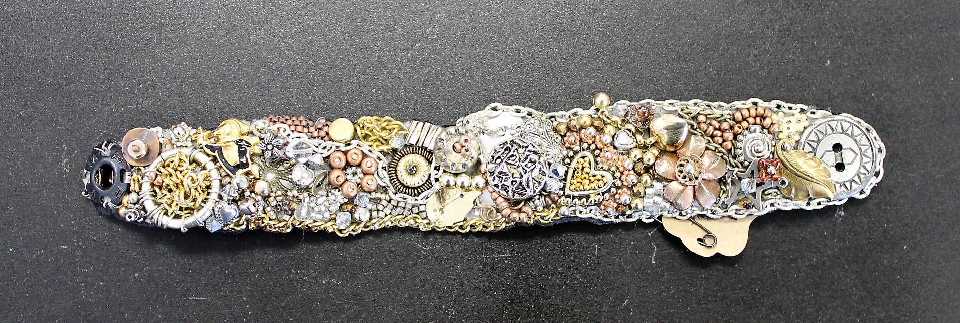 One-of-a-Kind Hand-Beaded Bracelet