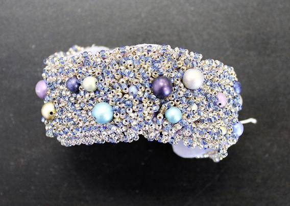 One-of-a-Kind Hand-Beaded Cuff