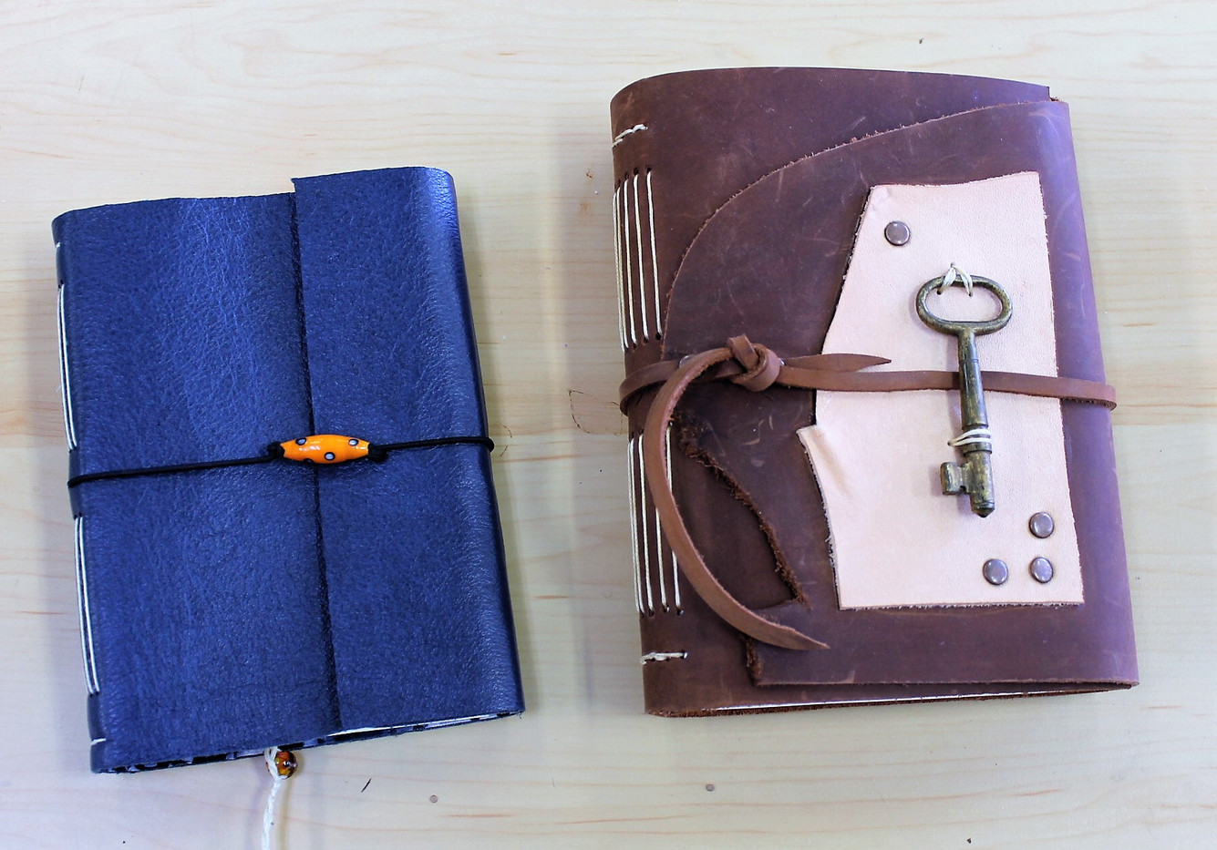 One-of-a-Kind Hand-Made Leather Journals
