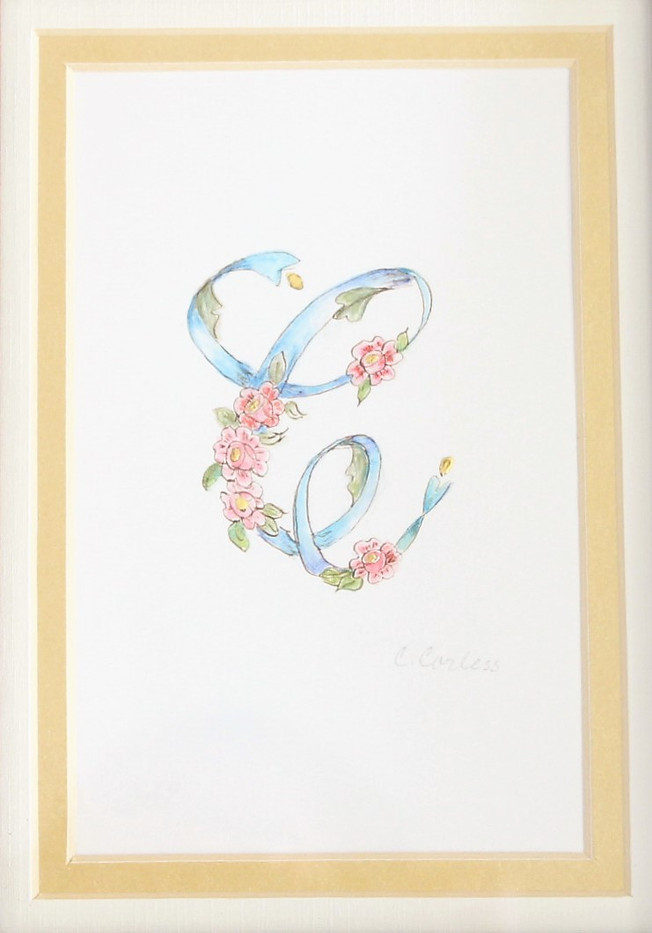 Watercolor initial