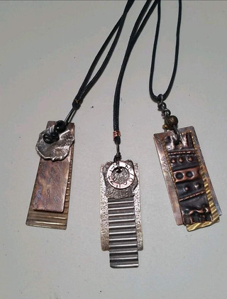 Hand-Crafted Metal Pendants