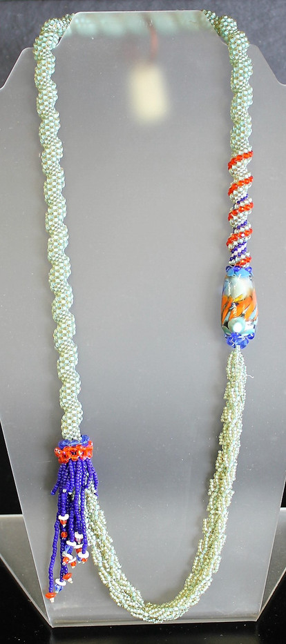 One-of-a-Kind Hand-Beaded Necklace