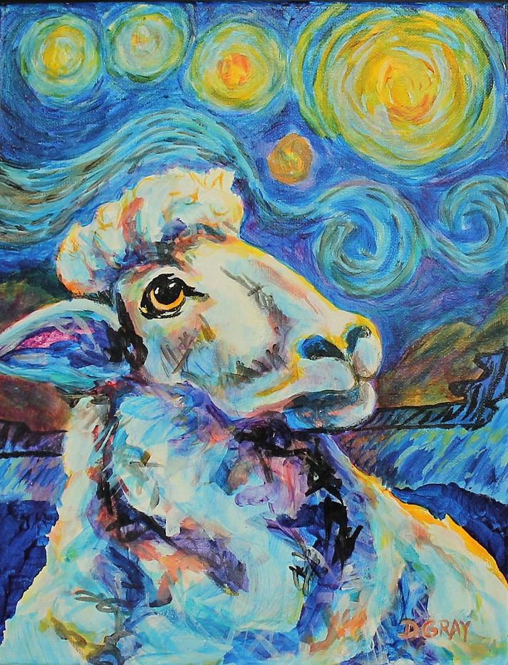 Ewe Van Gogh Girl