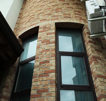 Dettaglio facciata mattone a vista